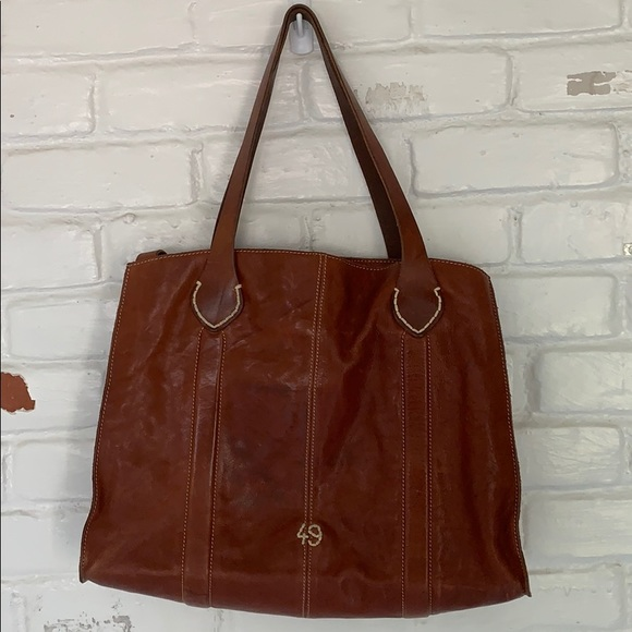 49 Square Miles leather lined tote